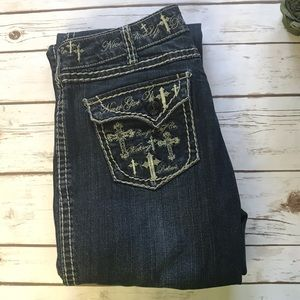 Cowgirl Tuff Believe It's Possible Jeans 30 x 33